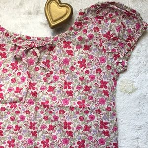 Papo d'Anjo 8 years tiny floral puffy sleeve shirt